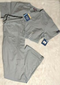 Cherokee scrub set Womens Size Small Tall Pewter Grey NWT