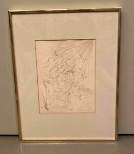 VINTAGE DALI ETCHING AUTUMN $75.00