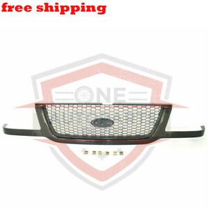 New Grill Grille Assembly Black With Silver Mesh For 01 03 Ford Ranger FO1200395