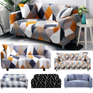 1 2 3 4 Seater Sofa Cover Floral Elastic Stretch Couch Cover for Universal Sofa