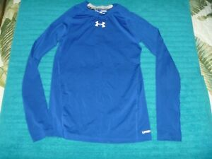 YOUTH UNDER ARMOUR FITTED SHIRT HEATGEAR LONG SLEEVE FITNESS SPORT UPF 30 $3.99