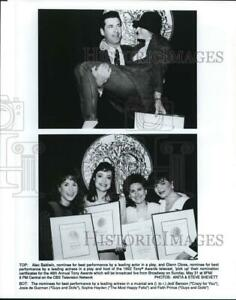 1992 Press Photo The nominees for best performances on the Tony Awards