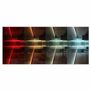 Designart #x27;Kitchen with LED Lighting#x27; Abstract Digital Art Small