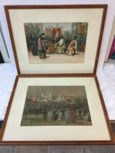 2 BEST Antique Lithographs Thure de Thulstrup amp; Charles Mente 1893 World#x27;s Fair $85.00