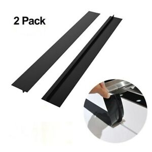2PC Silicone Kitchen Stove Counter Gap Cover Oven Guard Spill Seal Slit Filler