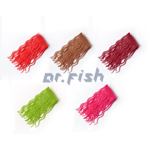 Lot 150 Squirmy Worm Fly Tying Materials High Grade Silicon Ice Fishing