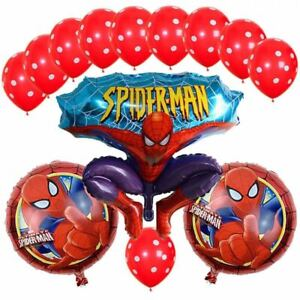 Set of Spiderman Foil Balloons for Kids Birthday Party Decoration 13pcs