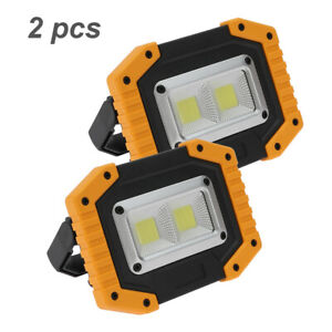 2Pcs 30W Portable USB Rechargeable COB LED Flood Light Outdoor Waterproof Lamps