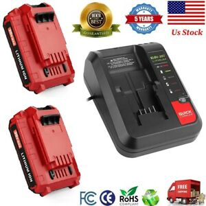 20V Max Lithium Battery PCC692L Charger and 2.5Ah Battery for Porter Cable