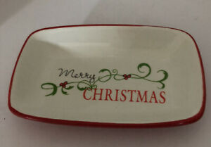 Christmas Glass Tray