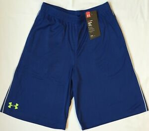 NWT youth Boys YSM small UNDER ARMOUR shorts heatgear loose fit Blue bottoms $16.99