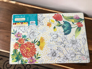 PIONEER WOMAN GLASS CUTTING BOARD In Blooming Bouquet BRAND NEW W tags