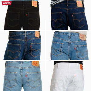 Levis 501 Denim Original Fit Jeans Straight Leg Button Fly 100% Cotton $43.42