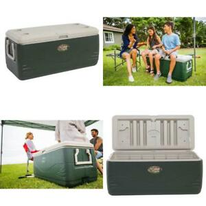 150 qt Cooler Portable Backyard Camping Heavy Duty Outdoor Gear Ice Chest Green