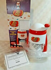 PORTABLE ICE SHAVER by JELLY BELLY TURN HANDLE TO SHAVE ICE NOMESS DRIP TRAY NIB