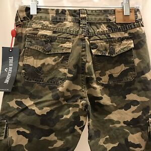 True Religion Boys Camo Cargo Jogger Pants Size 10 NWT $32.99