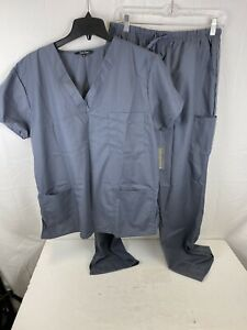 Just Love Women#x27;s Scrub Sets Six Pocket Medical ScrubsV Neck with Cargo Pant XL