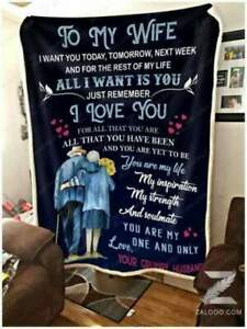 To My Wife I Want You For The Rest Of My Life Sofa Fleece Blanket