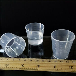 15ml 30ml Transparent Plastic Double scale Medicine Measuring Cup Holder Quality