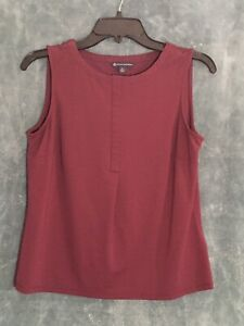Brooks Brothers Burgundy Women's Sleeveless Top Size Small Stretch Material