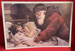 Santa ClausVictorianThe Christmas LetterStone LithographOld Print Factory $27.95
