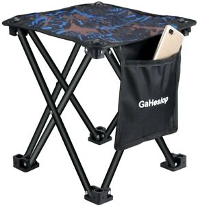 GaHeslop Small Camping Stool Fishing Travel Outdoor Folding Stool Portable