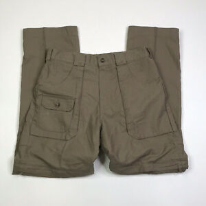 Cabelas Hunting Pants Mens Size 30x30 6 Pockets Remove Pants Legs Green