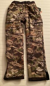 Under Armour Storm Forest Camo Hunting Pants Mens S Extreme Season Kit Loose NWT