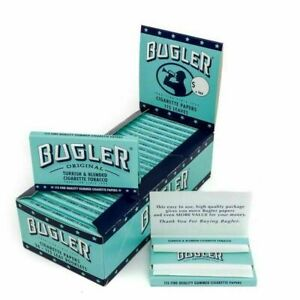 Bugler Cigarette Rolling Papers 24 Packs Booklets Box 115 Leaves Per Pack New $32.99