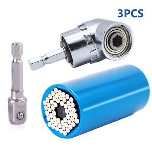 105 Degree 1 4quot; Right Angle Drill Adapter with 7mm 19mm Universal Multi Function $9.89