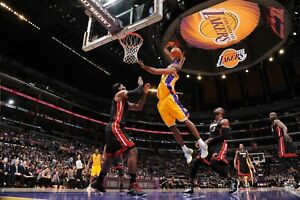 Los Angeles Lakes Kobe Bryant Dunk on Lebron James Poster 24x36 inches $20.00