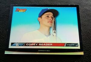 2015 Bowman#x27;s Best Corey Seager RC refractor thick card Nm Mt