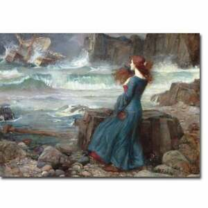 Miranda The Tempest by John Waterhouse Gallery Wrapped Multi color 24 x 32 $161.99