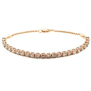 4.00 Ct Tw Le Vian Ombre Chocolate Diamond Tennis Bracelet 14k Rose Gold 6.75""