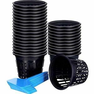 Jovitec 60 Pieces Net Cup Set 30 Pack Inch Cups Slotted Mesh Wide Lip With Pot