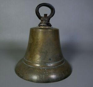 Vintage Large Cast Brass Bronze Ships Bell Ship Boat Nautical Maritime Heavy $199.99