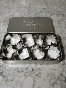 Pampered Chef Creative Cutters 8 Mini Cookie Set In Tin #1095 $7.99