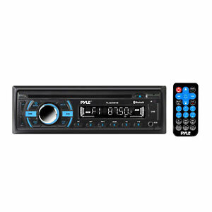 Pyle Single DIN Marine Bluetooth Stereo Receiver CD Player with Remote Black $89.99