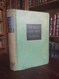 VINTAGE Of Mice And Men John Steinbeck Hardcover Early Edition $41.31