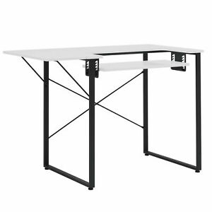 Sew Ready Dart Multipurpose Sewing Table Workstation w Folding Top Black White $79.99