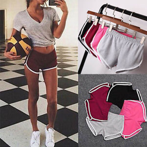 Womens Shorts Yoga Hot Pants Gym Fitness Summer Beach Running Sports Trousers US $7.04