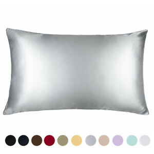 100% Pure Mulberry Silk Pillowcase Bed 19 Momme for Hair and Skin Hidden Zipper $21.99