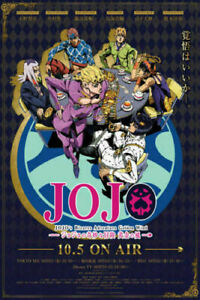 280404 JoJo#x27;s Bizarre Adventure Golden Wind Japan Anime WALL PRINT POSTER US $33.95
