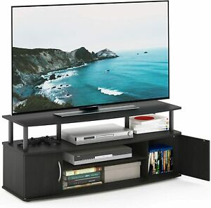 50quot; Blackwood TV Stand Cabinet Console Unit Furniture Table w Shelves $59.99