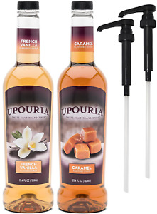 Upouria French Vanilla Caramel Flavored Syrup 100% Vegan and Gluten Free 750 $38.81