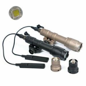 Tactical M600C Scout Light Rifle Flashlight LED Hunting with Tail Switch