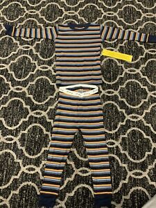 NWT Old Navy Boys Blue And Orange Long Sleeve Two Piece Cotton Pajama Size 2T $5.99
