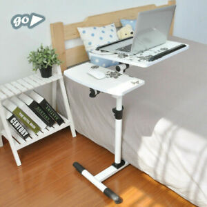 Adjustable Laptop Sofa Desk Overbed Food Tray Table Stand Rolling Height Angle $46.66