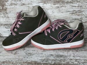 HEELYS Skate Shoes Brown Pink Youth Girls Size 3 $13.99