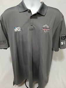 iK9 Xtreme Concepts Inc Racing Jeffrey Earnhardt Team Issue Under Armour XL Polo $35.00